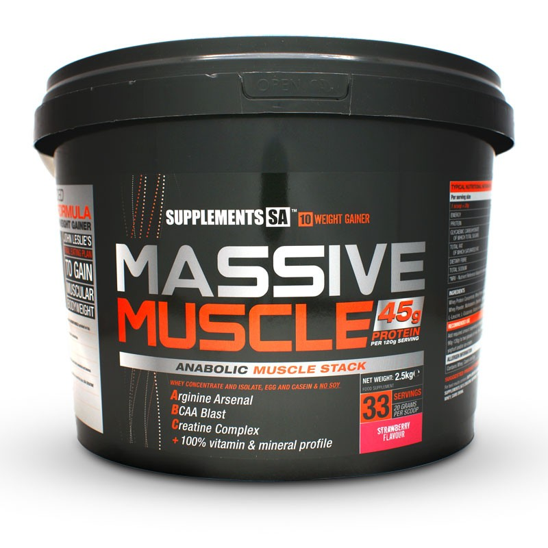 Supplements for massive muscle gain